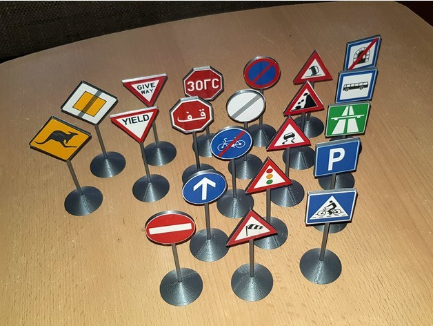 fade2557186a56a08d7afea2478f257d_preview_featured.jpg Download free STL file Traffic Sign Models • 3D print model, Saran