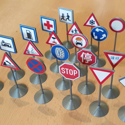 Download free 3D printer model Traffic Sign Models, Saran