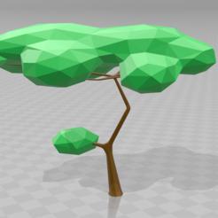 Fichier STL arbre low poly, inventeur