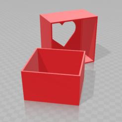 Modèle 3D boite saint valentin, inventeur
