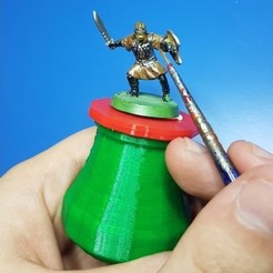 59aca06d19e155aac3b14765d724c99f_preview_featured.jpg Download free STL file Handle for Painting Miniatures • Template to 3D print, kejser