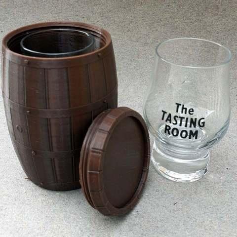 Free 3D printer designs Whisky-Barrel for tastingglass, kejser