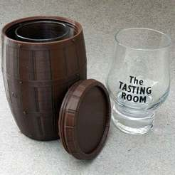 Descargar diseños 3D gratis Whisky-Barrel para vaso de degustación, kejser