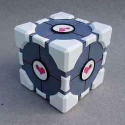 Free STL files Companion Cube, kejser