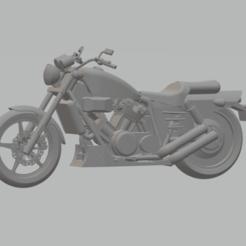 Descargar modelos 3D para imprimir motocicleta honda VFC750 super magna, mda33