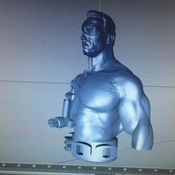 Archivos 3D terminator t800 50%50% arnold....., mda33