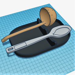 Free 3D printer model Utensil rest, tautor