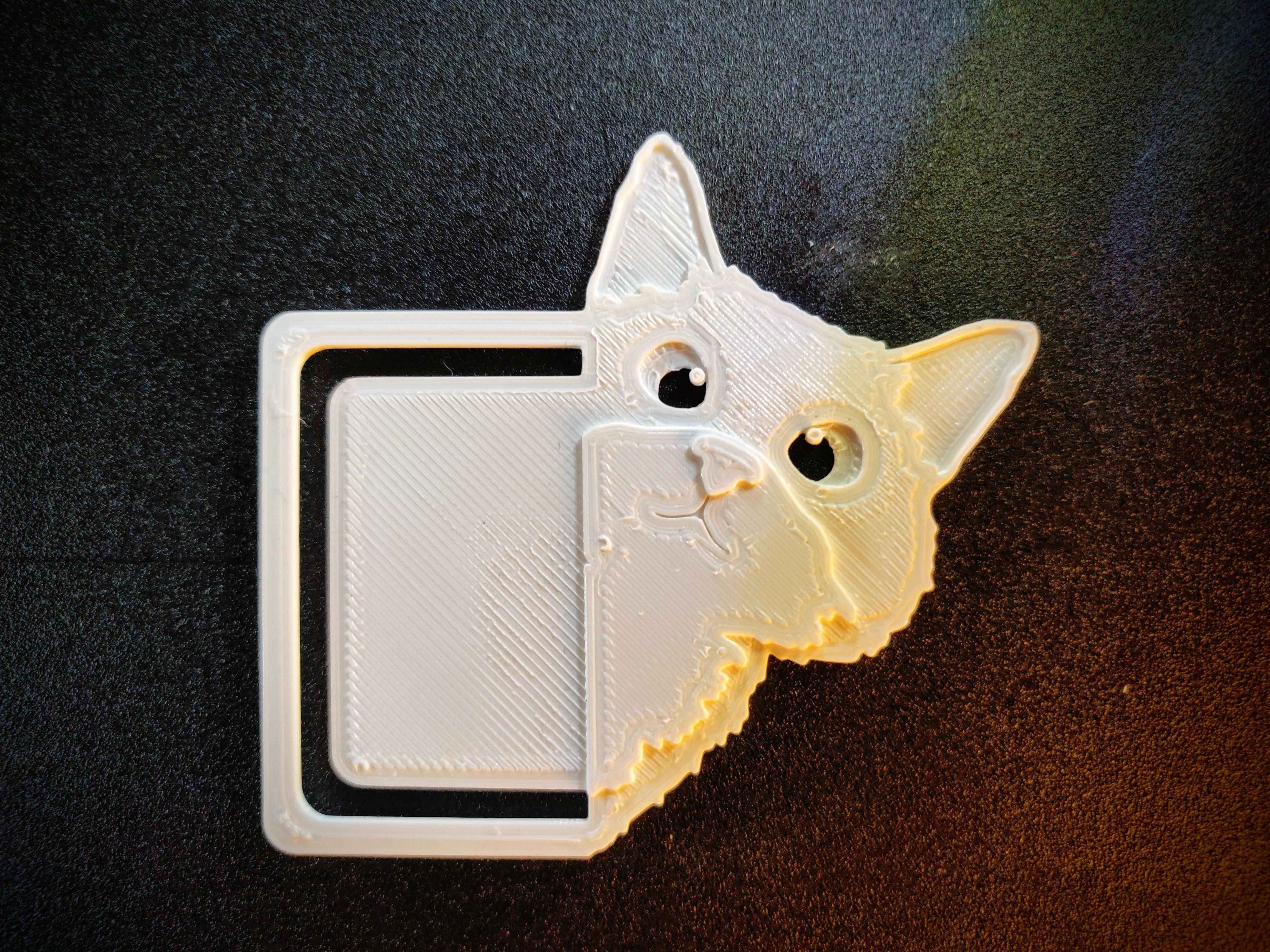IMG_Sneaky cat bookmark_02.jpg Télécharger fichier STL gratuit Marque-page chat caché • Modèle pour impression 3D, Arkatz