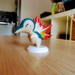 Cyndaquil_Painted_01.jpg Download STL file Hericendre / Cyndaquil - Pokémon • 3D printing design, Arkatz