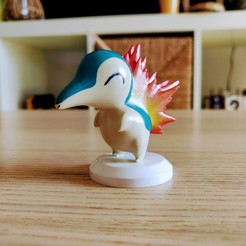 Cyndaquil_Painted_03.jpg Download STL file Hericendre / Cyndaquil - Pokémon • 3D printing design, Arkatz