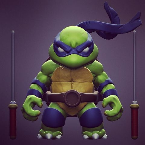 Descargar modelo 3D gratis Chibi Mutant Ninja Turtles LEO!, Fabiosartbox