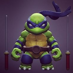 Archivos STL gratis Chibi Mutant Ninja Turtles LEO!, Fabiosartbox