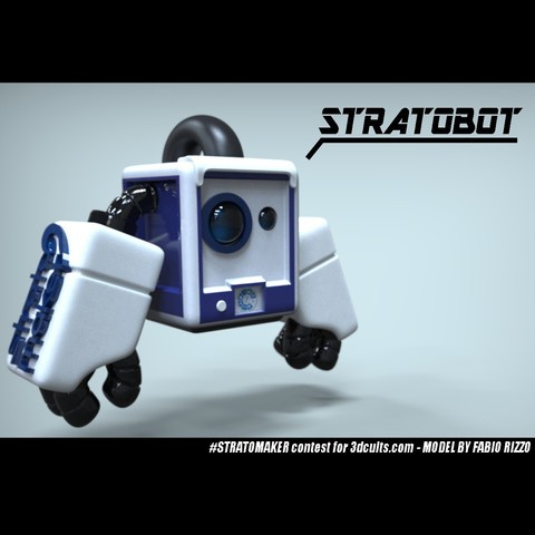 Download free 3D printing designs Stratomascot! The #STRATOMAKER wannabe Mascot, Fabiosartbox