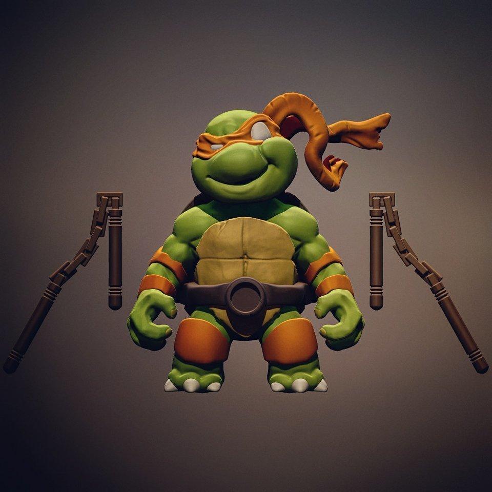 28535741_10215703653010031_1101070942_n.jpg Download STL file Chibi Mutant Ninja turtles Mickey • 3D printable template, Fabiosartbox