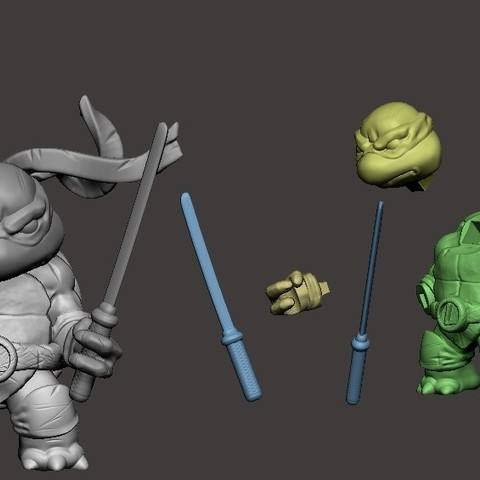 image1.jpg Download free STL file Chibi Mutant Ninja Turtles LEO! • 3D printable design, Fabiosartbox