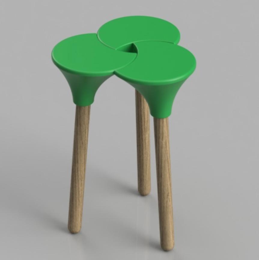 Capture d'écran 2018-01-26 à 16.08.34.png Download STL file Cluster (the full sized) Stool • 3D print object, Pongo