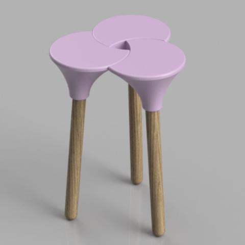 Capture d'écran 2018-01-26 à 16.08.22.png Download STL file Cluster (the full sized) Stool • 3D print object, Pongo