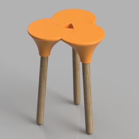 Capture d'écran 2018-01-26 à 16.08.18.png Download STL file Cluster (the full sized) Stool • 3D print object, Pongo