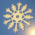 Free 3D printer designs snowflake decoration or drinks coaster, Pongo