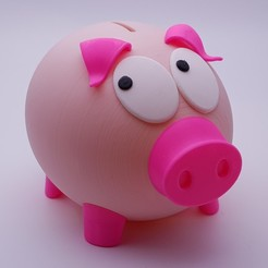 Download 3D printer templates Mr Biggy Panks The Rather Shy Piggy Bank, Pongo