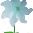Download free STL files Flower Windmill, Pongo