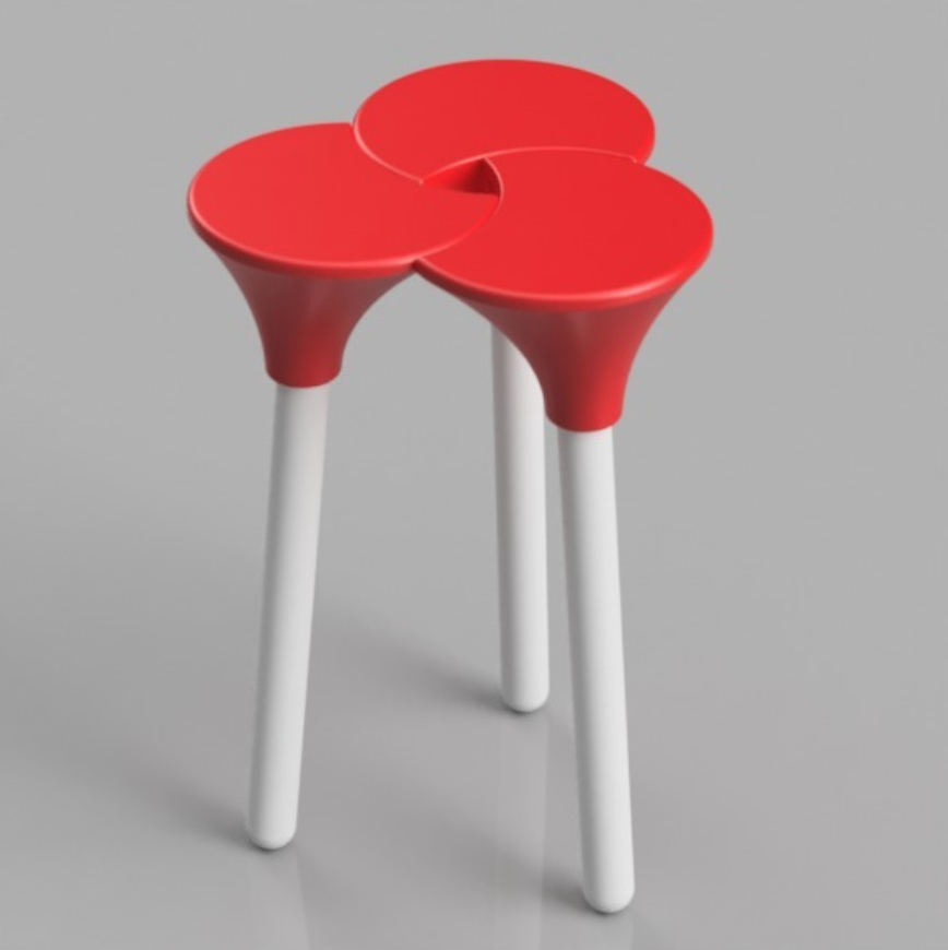 Capture d'écran 2018-01-26 à 16.08.27.png Download STL file Cluster (the full sized) Stool • 3D print object, Pongo