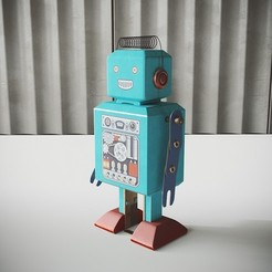 Download 3D printing files Vintage robot, robertillin