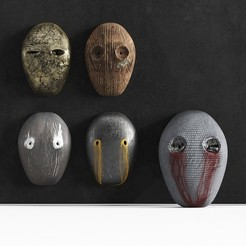 Download 3D printer templates Set of 5 Masks, robertillin