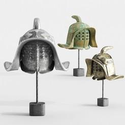 Descargar modelo 3D casco gladiador, robertillin