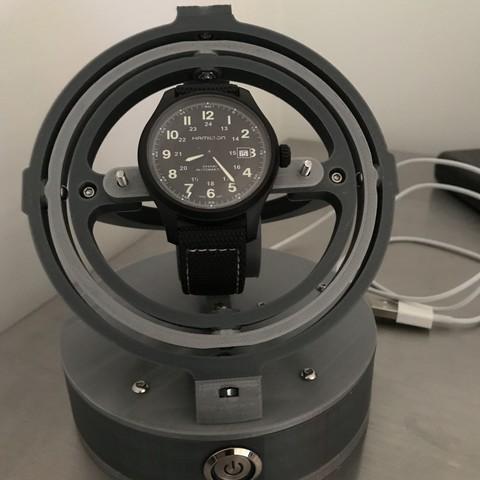 Download 3D printer model Gyro Winder / Watch Winder / Watch Winding Watch, marchettia