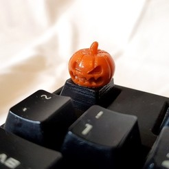 Download 3D printing models Evil Pumpkin Keycap for Cherry MX, solidcinu