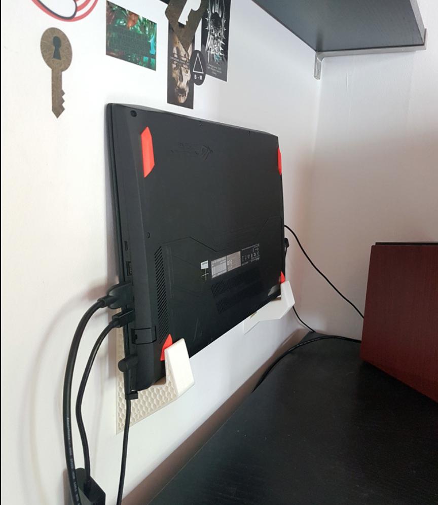 Capture d'écran 2018-01-26 à 15.04.58.png Download free STL file Laptop wall mount • 3D printable model, atu