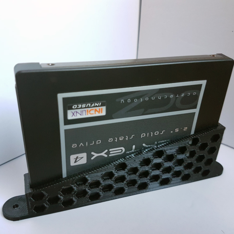 Download free STL file SSD vertical holder / bracket, atu