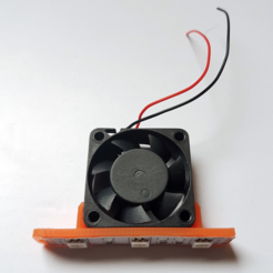 Free 3d printer files Led holder for 30mm fan, atu