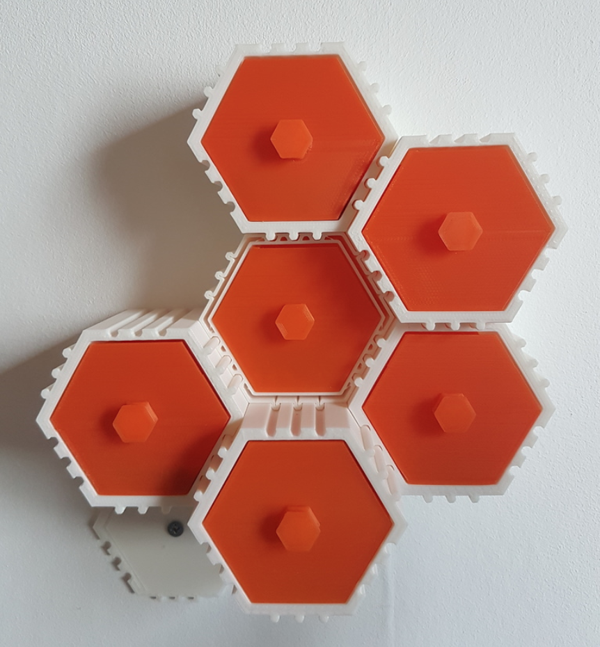 Capture d'écran 2018-01-26 à 15.06.00.png Download free STL file The HIVE - Module with wall mount back • 3D printing template, atu