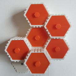 Download free STL file The HIVE - Module with wall mount back • 3D printing template, atu