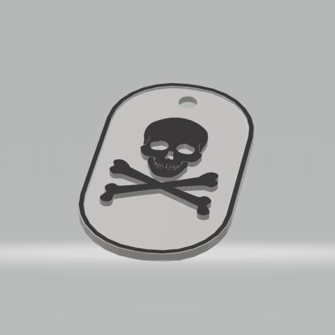 STL file military plate Pirateskull, darkunu