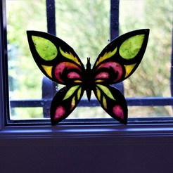 Download STL Wall butterfly decoration, imagin3D