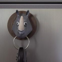 Download 3D printer designs Rhino key ring, imagin3D