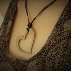 STL Heart Necklace, darkunu