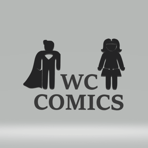 Download 3D printer designs wc comics superman/wonderwomen, imagin3D