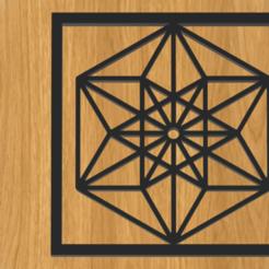 Télécharger objet 3D cadre géométrie 3d, imagin3D