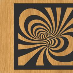 Download 3D printing designs 3D optical illusion frame, imagin3D