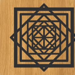 Descargar archivo 3D Marco de ilusión óptica cuadrado, imagin3D