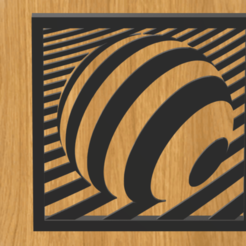 Descargar STL Bola de cuadro bola de ilusión óptica, imagin3D