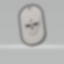 3D printer files military skullhole plate, darkunu
