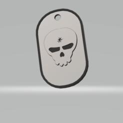 Download 3D printer model military skullhole plate, imagin3D