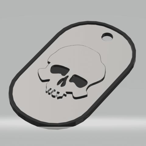3D print files military plate skull beret, darkunu