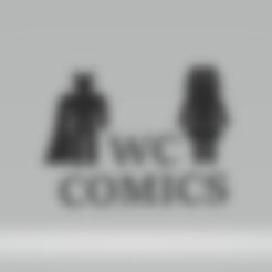 Download 3D printer designs WC COMICS batman/wonderwomen, imagin3D
