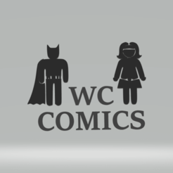 Descargar archivo 3D WC COMICS batman/wonderwoman, imagin3D